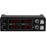 Logitech G G Saitek Pro Flight Radio Panel Black USB 2.0 Flight Sim Analogue PC