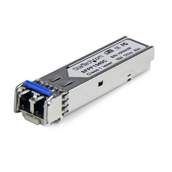 StarTech.com Cisco Compatible 100 Mbps Fiber SFP Transceiver Module SM LC w/ DDM – 40 km (Mini-GBIC)