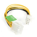 StarTech.com 8in EPS 8 Pin Power Cable 0.2m Yellow power cable