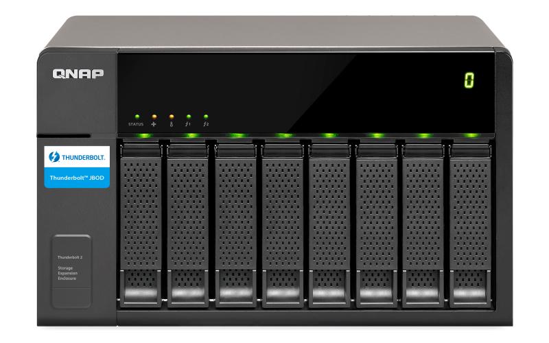 QNAP TX-800P disk array 80 TB Tower Black