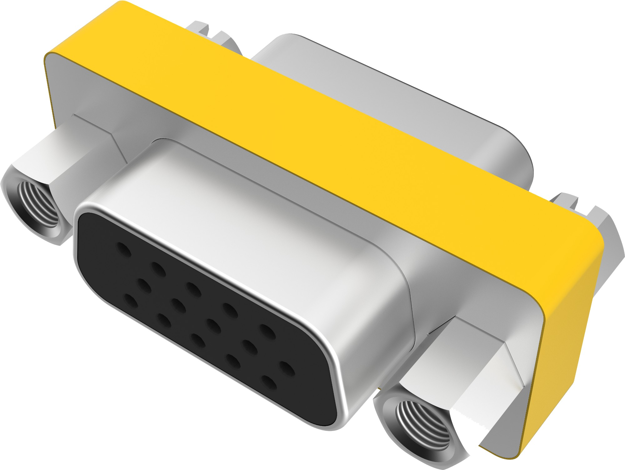 Vision TC-VGAFF cable interface/gender adapter VGA Metallic,Yellow