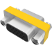 Vision TC-VGAFF adaptador de cable VGA Metálico, Amarillo