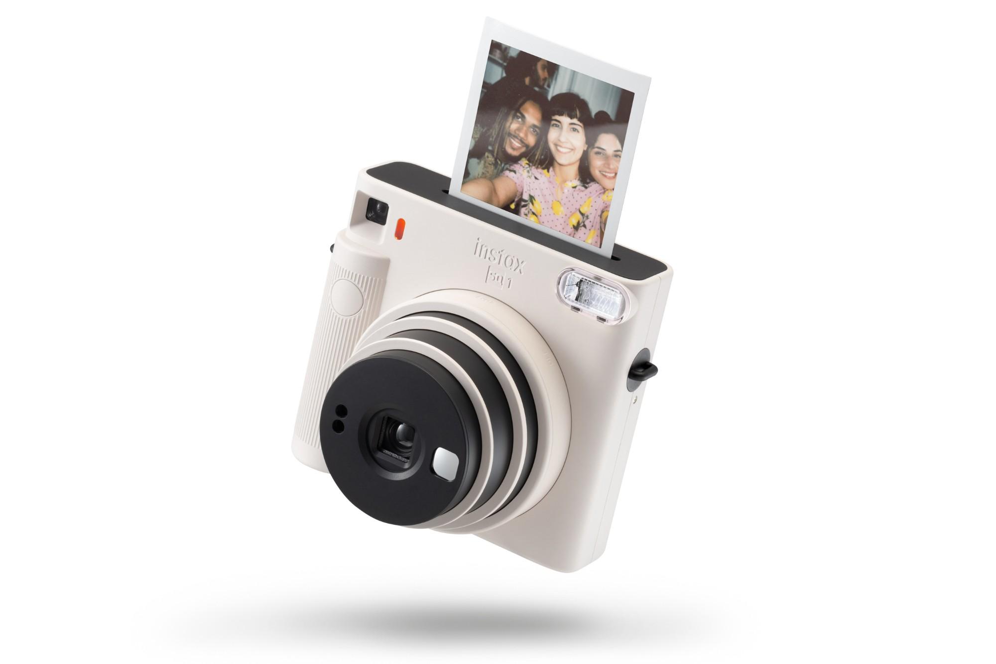 Fujifilm Instax Square SQ1 Instant Camera (10 Shots) - Chalk White