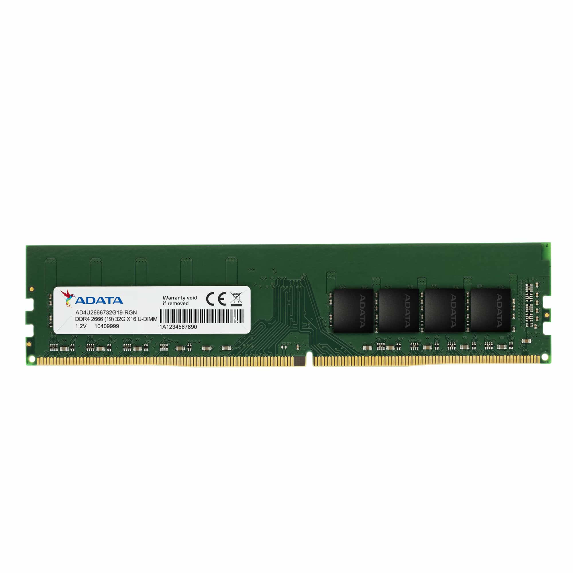 ADATA AD4U26668G19-SGN memory module 8 GB 1 x 8 GB DDR4 2666 MHz