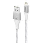 "ALOGIC ULA8P1.5-SLV mobile phone cable Silver 59.1"" (1.5 m) USB A Lightning"