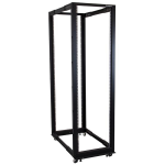 StarTech.com 42U Adjustable Depth Open Frame 4 Post Server Rack Cabinet - Flat Pack w/ Casters, Levelers and Cable Management Hooks 4POSTRACK42