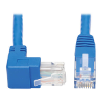 Tripp Lite N204-015-BL-UP Up-Angle Cat6 Gigabit Molded UTP Ethernet Cable (RJ45 Right-Angle Up M to RJ45 M), Blue, 15 ft. (4.57 m)