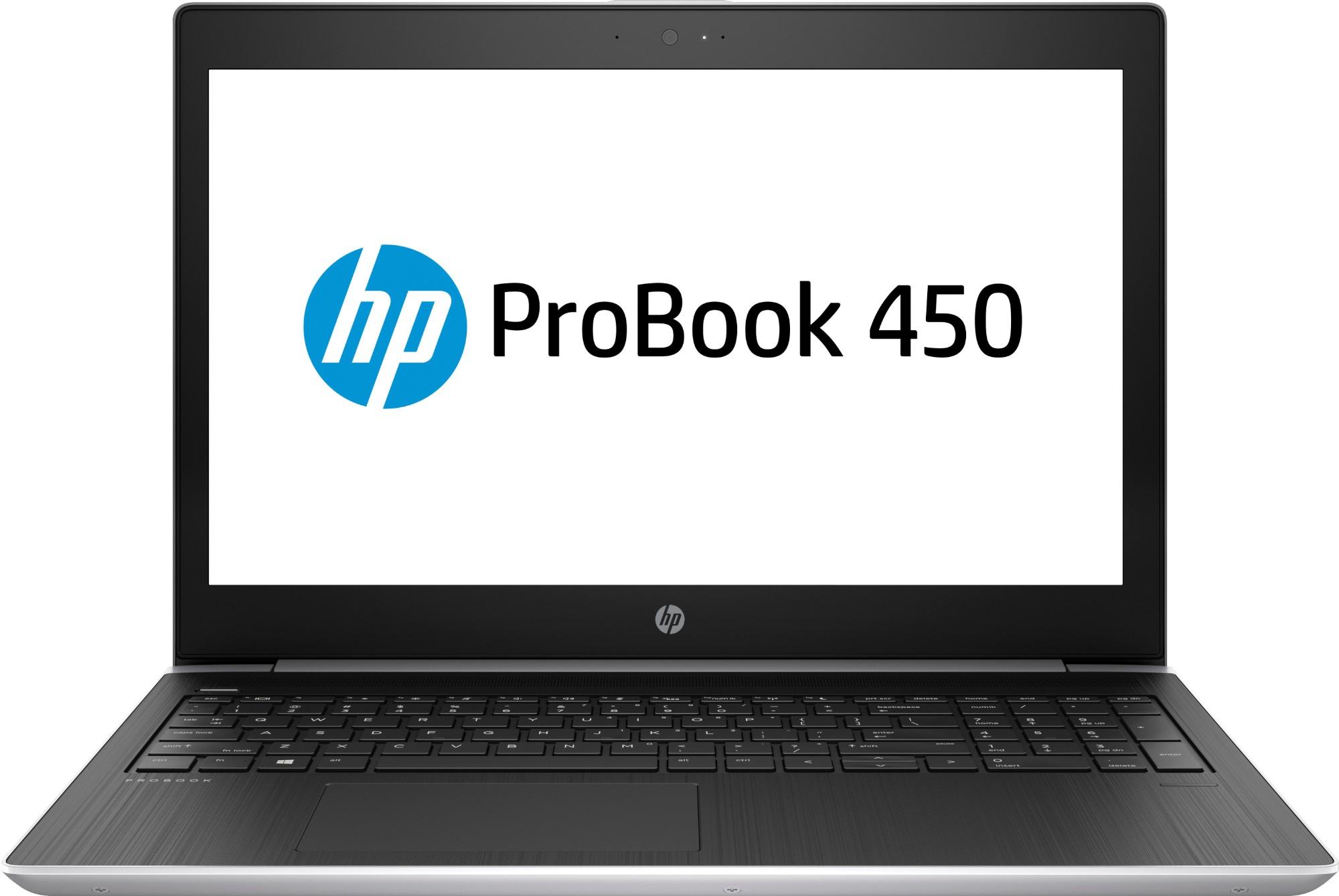 """HP ProBook 450 G5 2.40GHz i3-7100U 7th gen Intel® Core™ i3 15.6"""" 1366 x 768pixels Black, Silver Notebook"""