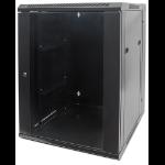 "Intellinet Network Cabinet, Wall Mount (Double Section), 15U, 550mm Depth, Black, Assembled, Max 30kg, 19"", Three Year Warranty"