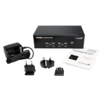 StarTech.com SV431DD2DUA KVM switch Black
