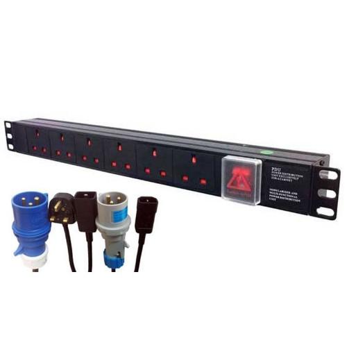 POWERDATA Technologies H13A/6 power distribution unit (PDU) 1.5U Black 6 AC outlet(s)