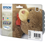 Epson C13T06154020 (T0615) Ink cartridge multi pack, 250 pages, 4x8ml, Pack qty 4