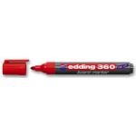 Edding 360 Board Marker Red PK10