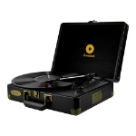 mBeat ® Woodstock Retro Turntable Player – Black