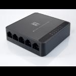 LevelOne FEU-0512 network switch Fast Ethernet (10/100) Black