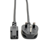Tripp Lite Standard UK Computer Power Cord Lead Cable, 10A (IEC-320-C13 to BS-1363 UK Plug), 1.83 m (6-ft.)