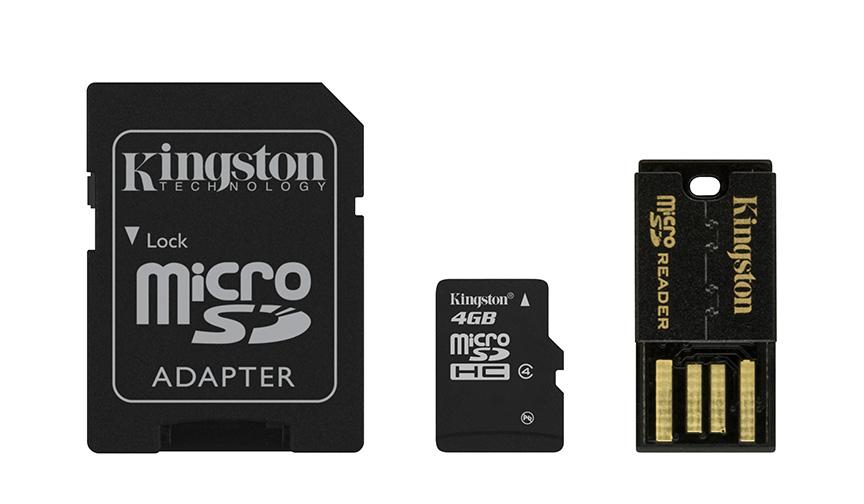 Kingston Technology 4GB Multi Kit 4GB MicroSD Flash Class 4 memory card