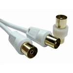 Cables Direct 2TVREV-01 coaxial cable 1 m White