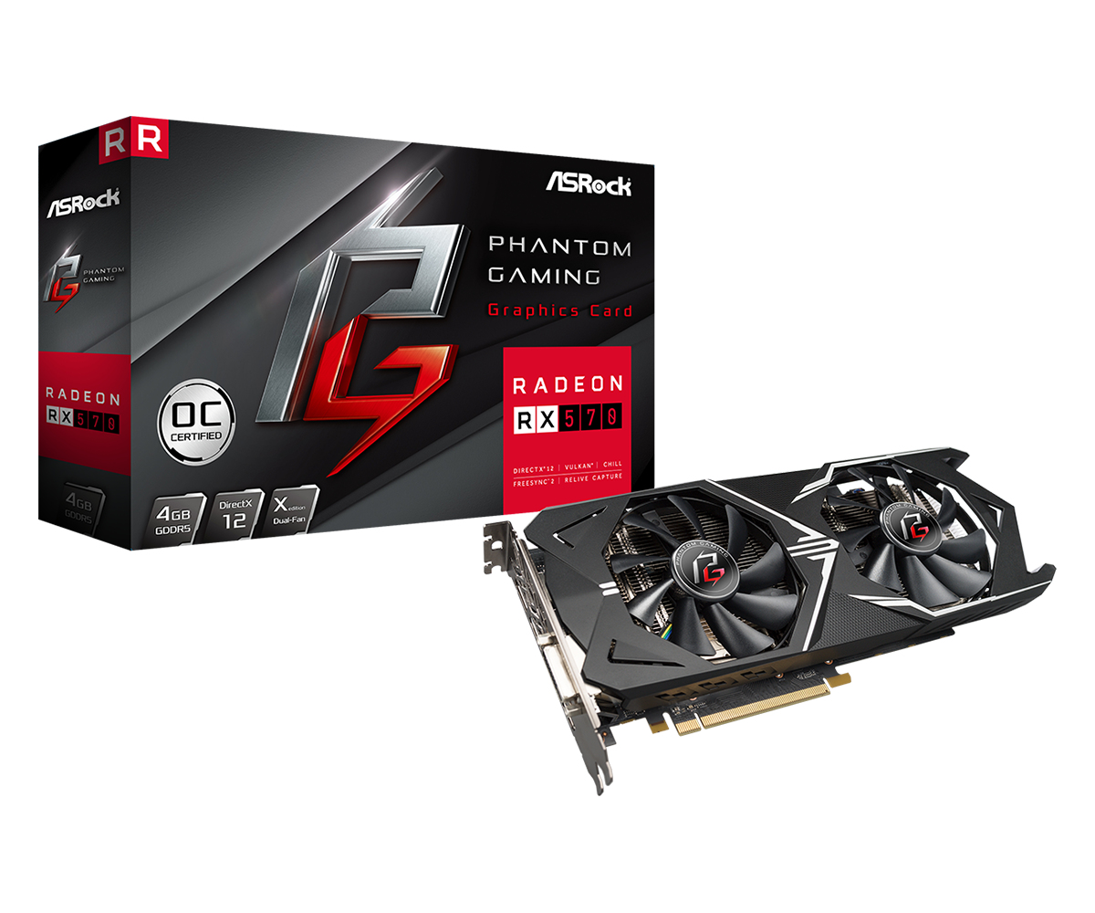 Asrock 90-GA0800-00UANF graphics card Radeon RX 570 4 GB GDDR5