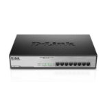 D-Link DGS-1008MP network switch Unmanaged Gigabit Ethernet (10/100/1000) Black 1U Power over Ethernet (PoE)