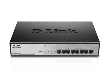 D-Link DGS-1008MP Unmanaged Gigabit Ethernet (10/100/1000) Power over Ethernet (PoE) 1U Black network switch