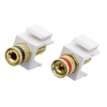 Lindy 60564 cable interface/gender adapter Banana White
