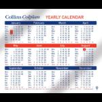 Collins Colplan calendar Table