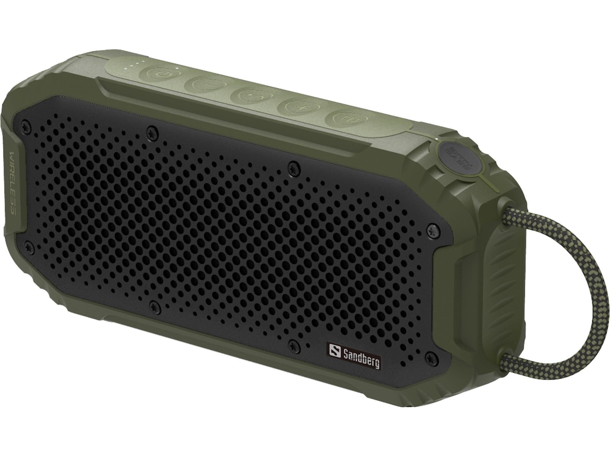 Sandberg Waterproof Bluetooth Speaker 20W Black, Green