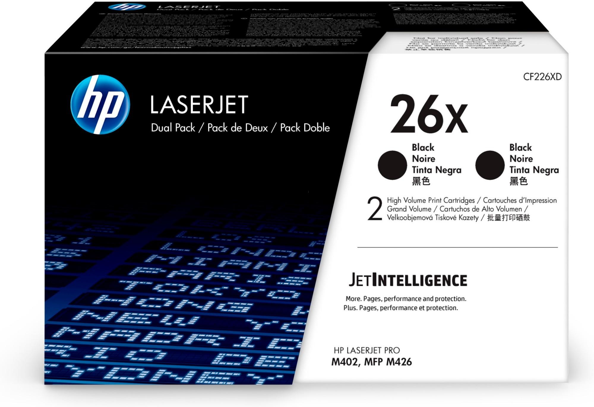 HP 26X Original Negro 2 pieza(s)