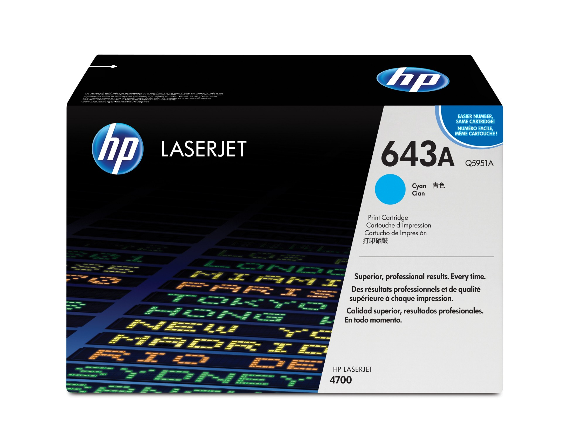 HP Q5951A (643A) Toner cyan, 10K pages @ 5% coverage