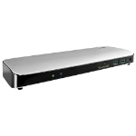 Lindy 43903 notebook dock/port replicator Wired Thunderbolt 3 Black,Silver