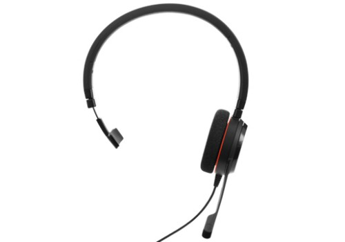 Jabra Evolve 20 MS Mono Monaural Head-band Black headset