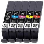 Canon PGI-72 MBK/C/M/Y/R Original Cian, Magenta, Negro mate, Rojo, Amarillo 5 pieza(s)