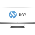 "HP ENVY 34 34"" Wide Quad HD LED Matt Silver, Black computer monitor"