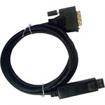 Cablenet 24 0206 2m DisplayPort DVI Black video cable adapter