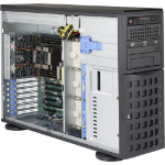 Supermicro 745BAC-R1K28B2 Full Tower Rack-Mountable Workstation / Server Case with 1280W Redundant Power Supply