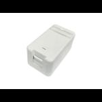 Lanview LVN127766 socket-outlet RJ-45 White