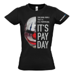 PAYDAY 2 Women's Chains Mask Small T-Shirt, Black (GE1737S)