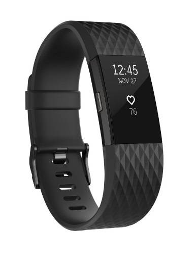 Fitbit Charge 2 Wristband activity tracker Anthracite, Black OLED Wireless