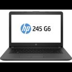 "HP 245 G6 Black Notebook 35.6 cm (14"") 1366 x 768 pixels 1.5 GHz AMD E E2-9000e"