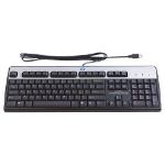 HP USB Standard keyboard Arabic, French Black, Silver