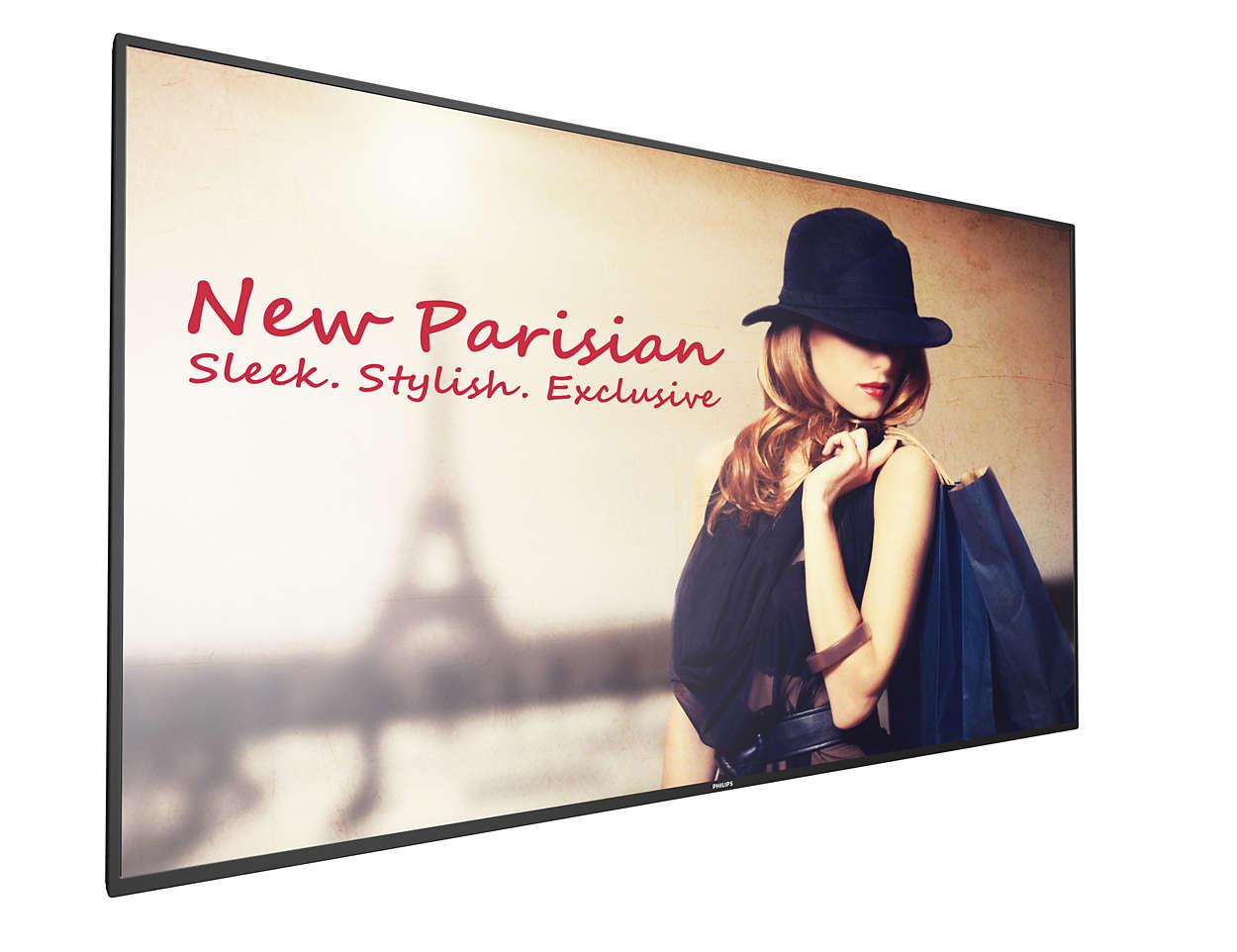 "Philips 55BDL4150D/00 pantalla de señalización 138,8 cm (54.6"") 4K Ultra HD Pantalla plana para señalización digital Negro Android 7.1.2"