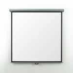 Metroplan Eyeline Electric Wall Screen 1:1 Black,White projection screen