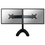 "Newstar Tilt/Turn/Rotate Dual Desk Stand for two 19-30"" Monitor Screens, Height Adjustable - Black"
