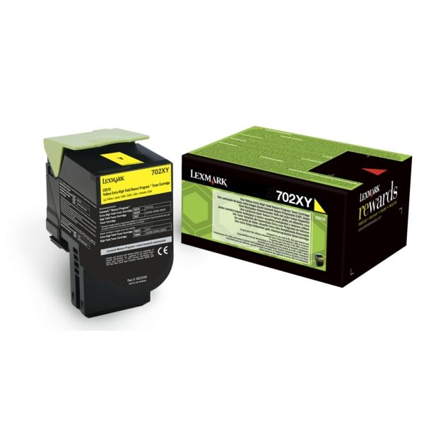 Lexmark 70C2XY0 (702XY) Toner yellow, 4K pages