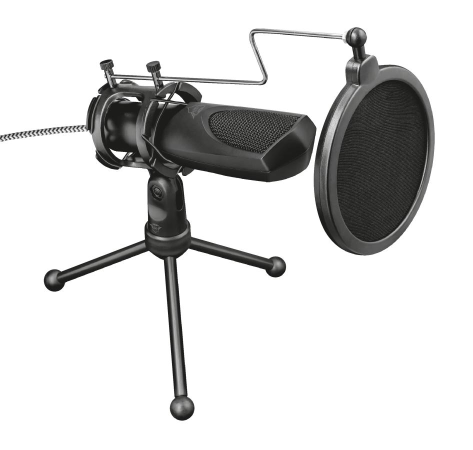Trust GXT 232 Mantis Micrófono para PC Negro