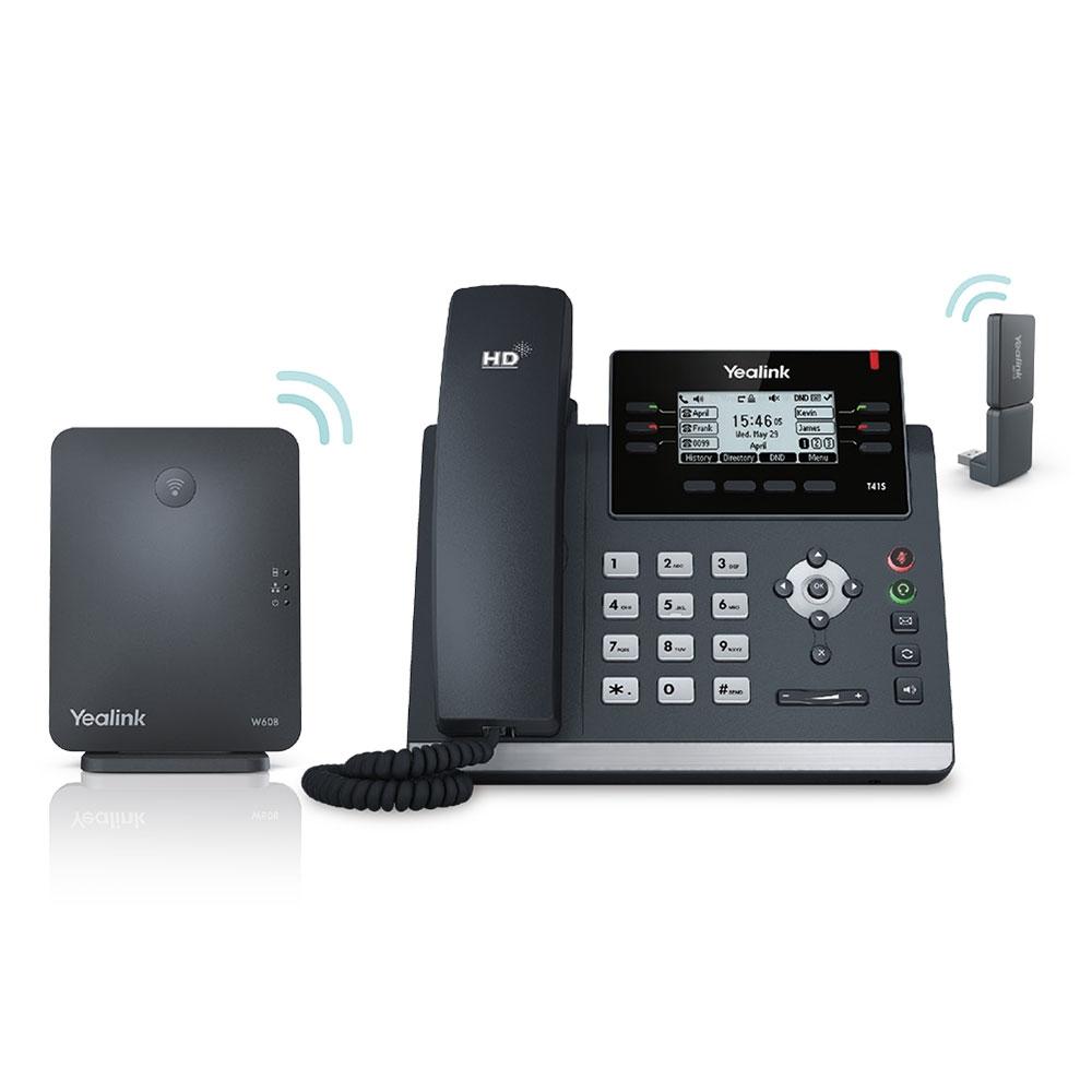 Yealink W41P Wired & Wireless handset LCD IP phone