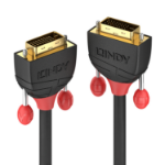 Lindy 36251 DVI cable 1 m DVI-D Black,Red