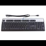 HP USB Standard Keyboard USB Black,Silver keyboard