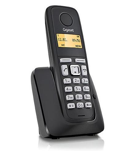 Gigaset A120 DECT telephone Black Caller ID